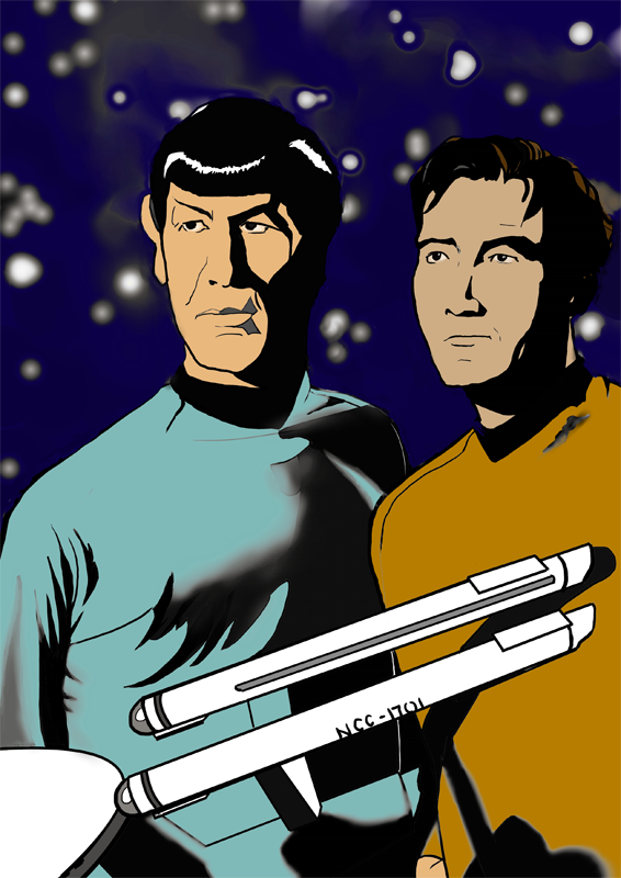Kirk and Spock Colour